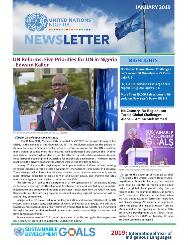 UN Nigeria Newsletter - January 2019