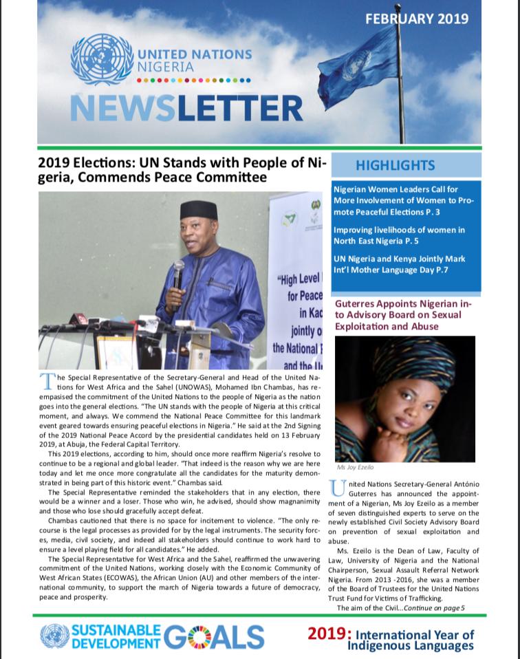 UN Nigeria Newsletter - Feb 2019
