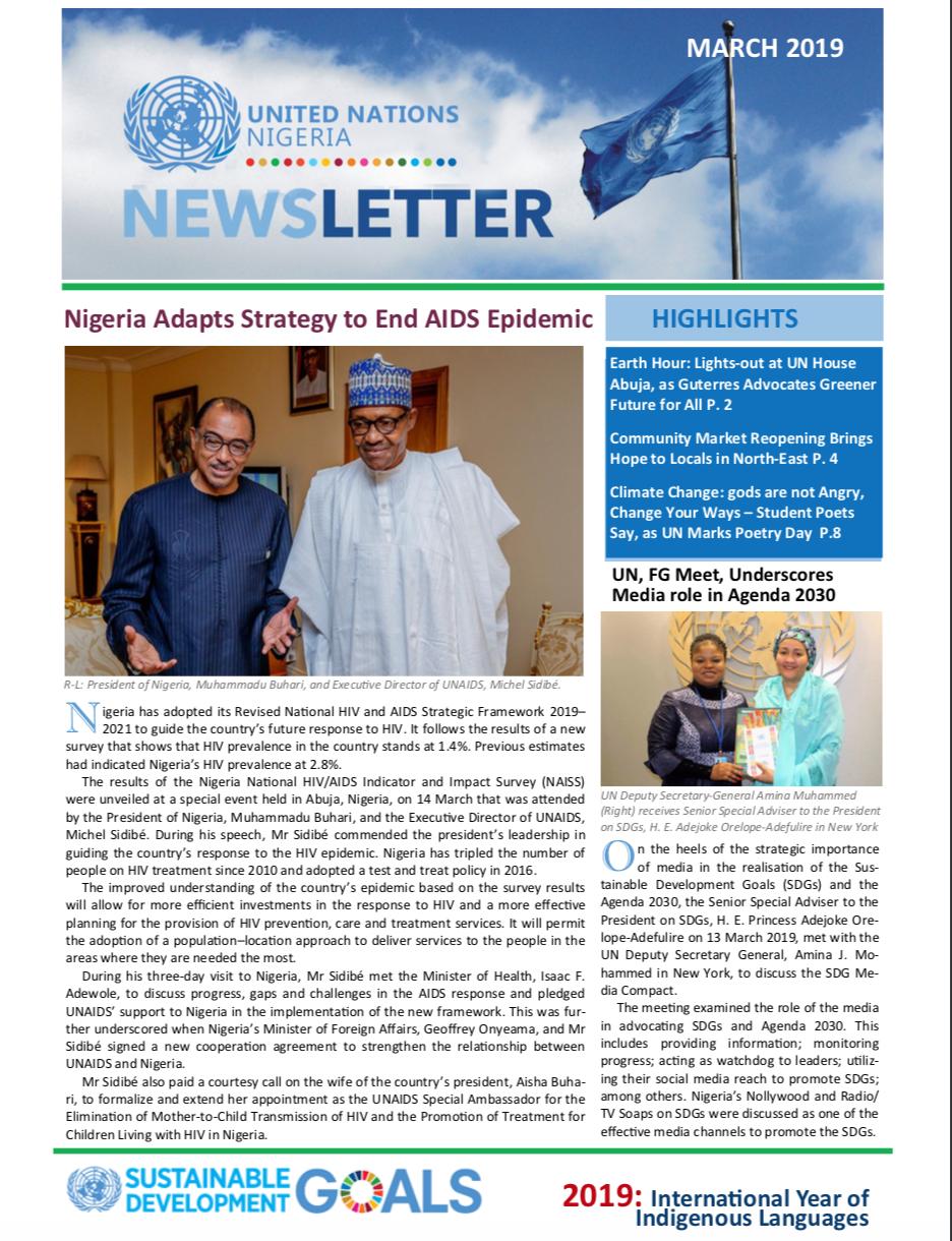 UN Nigeria Newsletter - March 2019