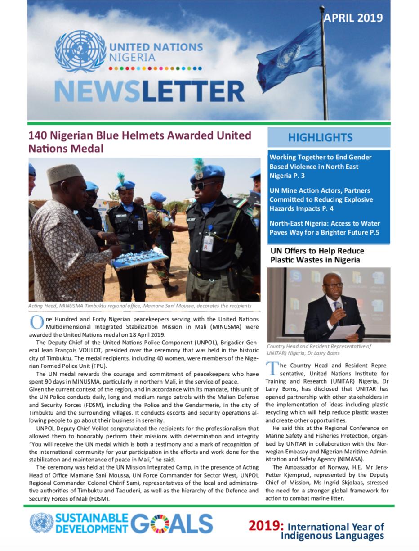 UN Nigeria Newsletter - April 2019