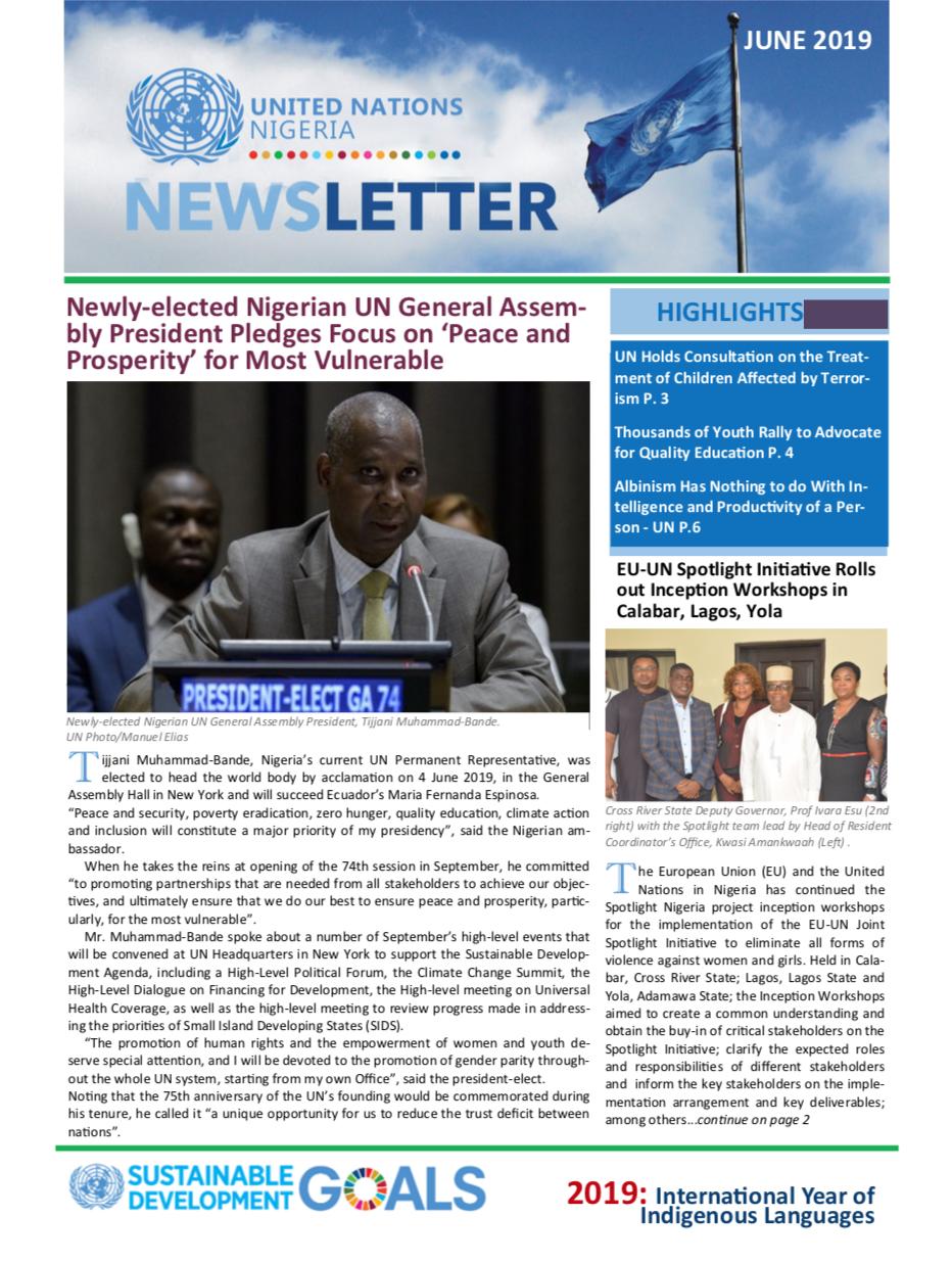 UN Nigeria Newsletter - June 2019