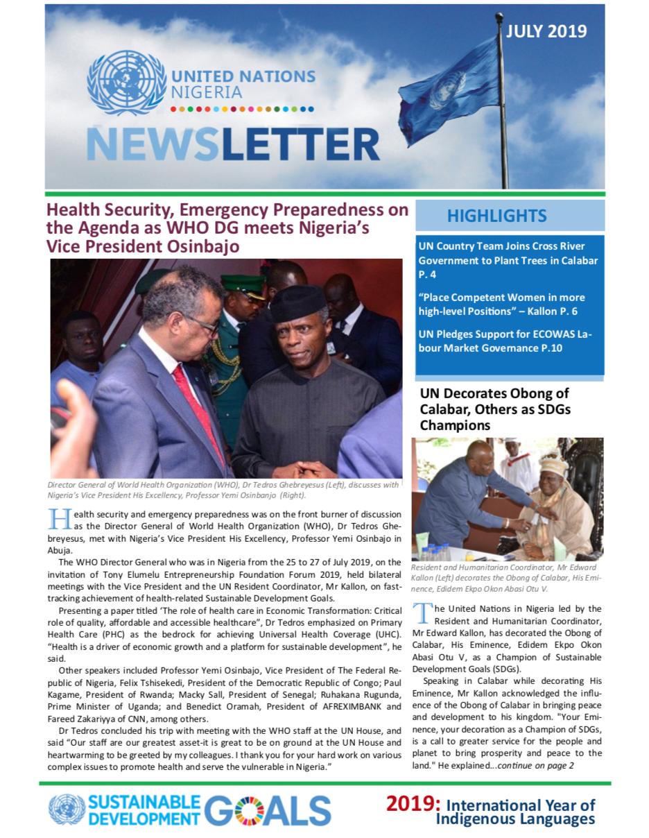 UN Nigeria Newsletter - July 2019