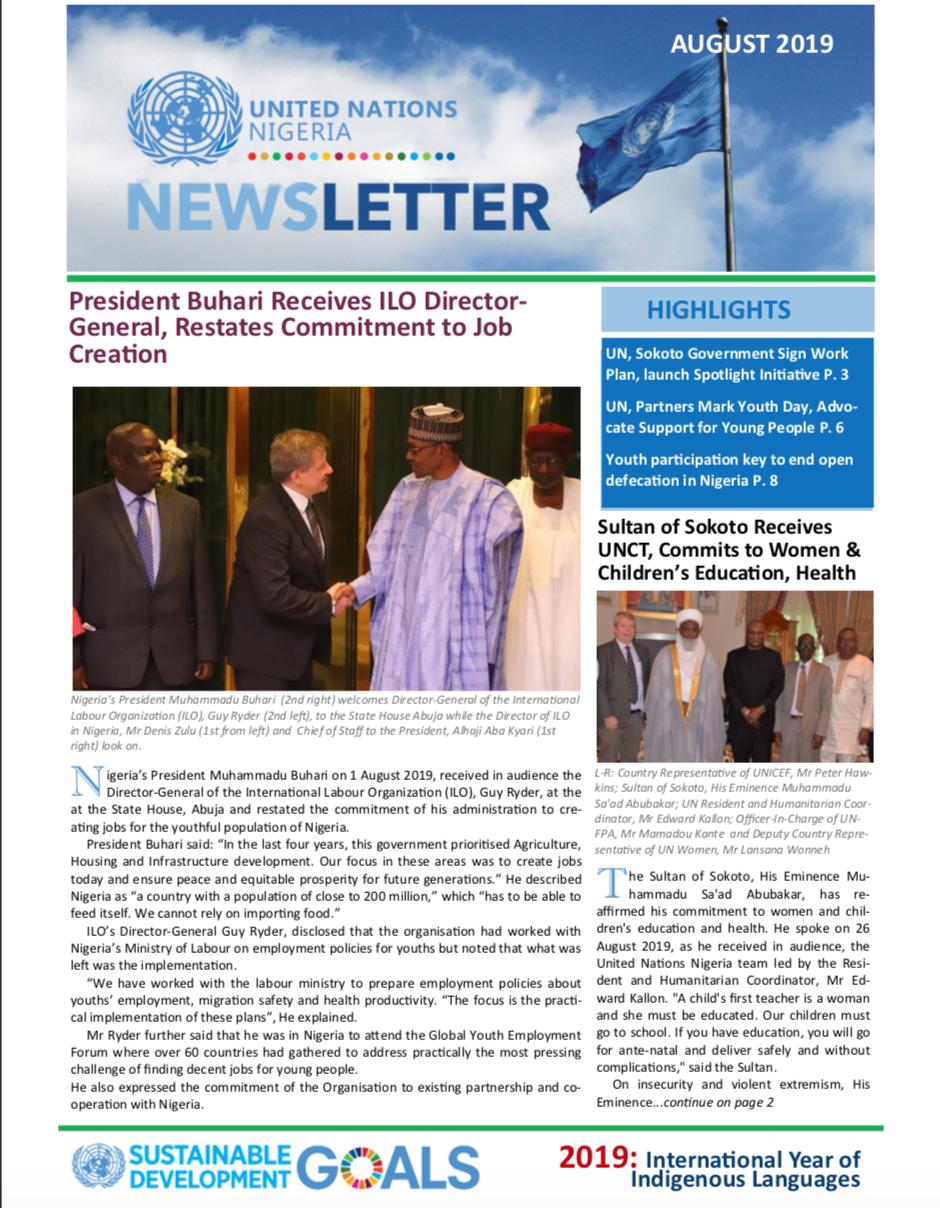 UN Nigeria August 2019 Newsletter