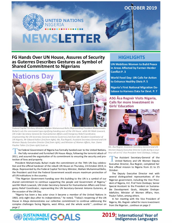 UN Nigeria Newsletter - October 2019