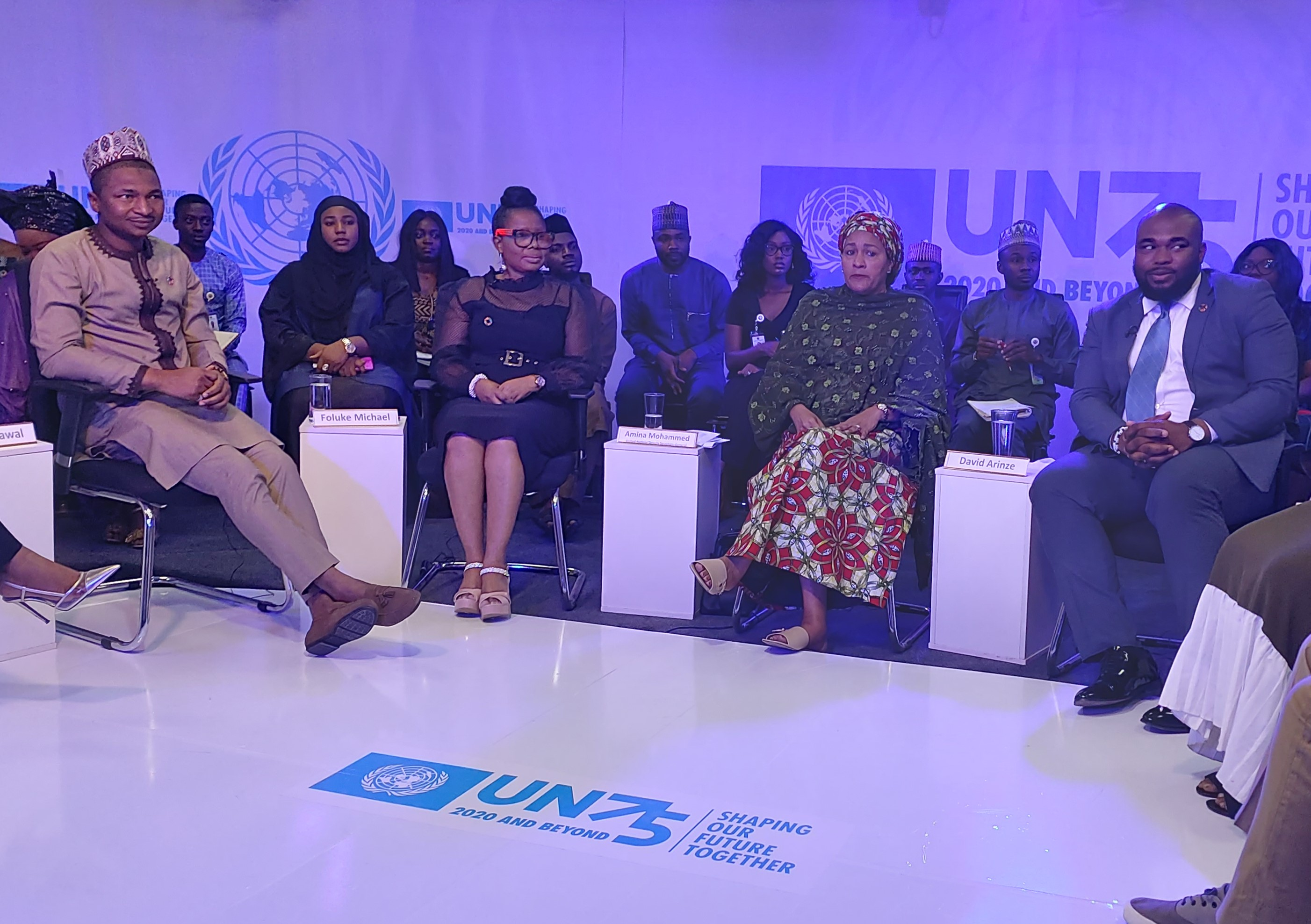 #UN75: Global Dialogue with Youth Intensifies as DSG Amina Muhammed Engages Young People in Nigeria