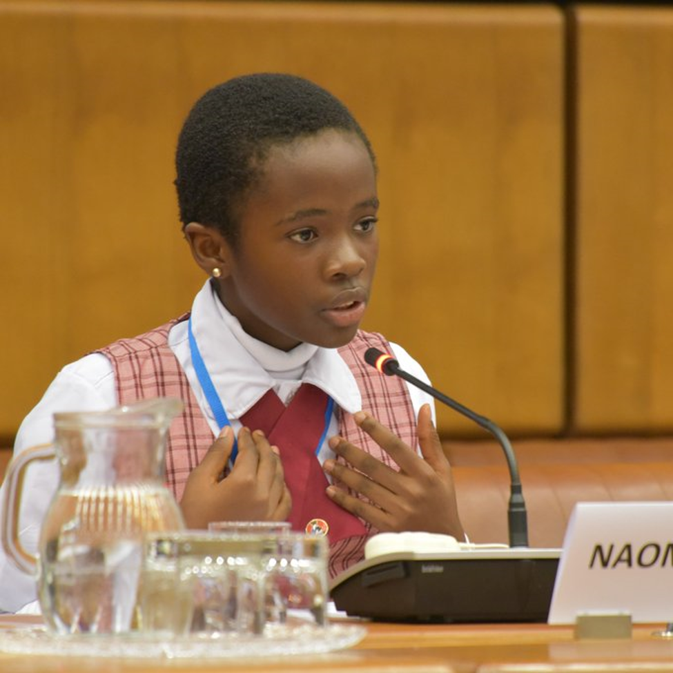 11-year old Nigerian Receives Standing Ovation at UN Conference on the Rule of Law