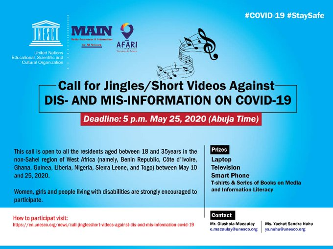 Call for Jingles/Short Videos against Dis- and Mis-Information on COVID-19