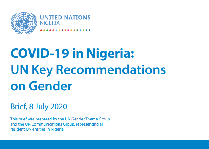 COVID-19 in Nigeria: UN Key Recommendations on Gender