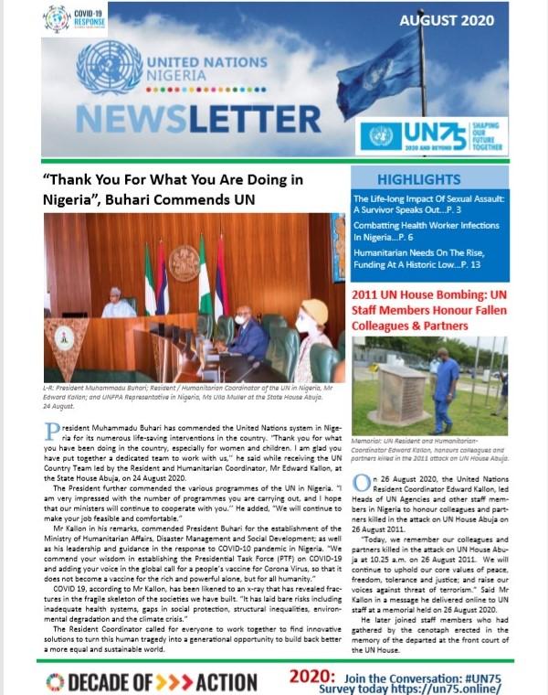 UN Nigeria Newsletter - August 2020