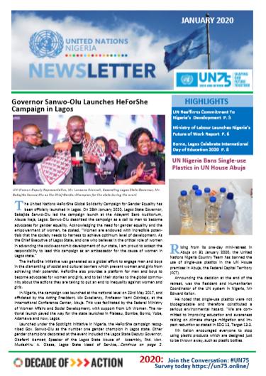 UN Nigeria Newsletter - January 2020