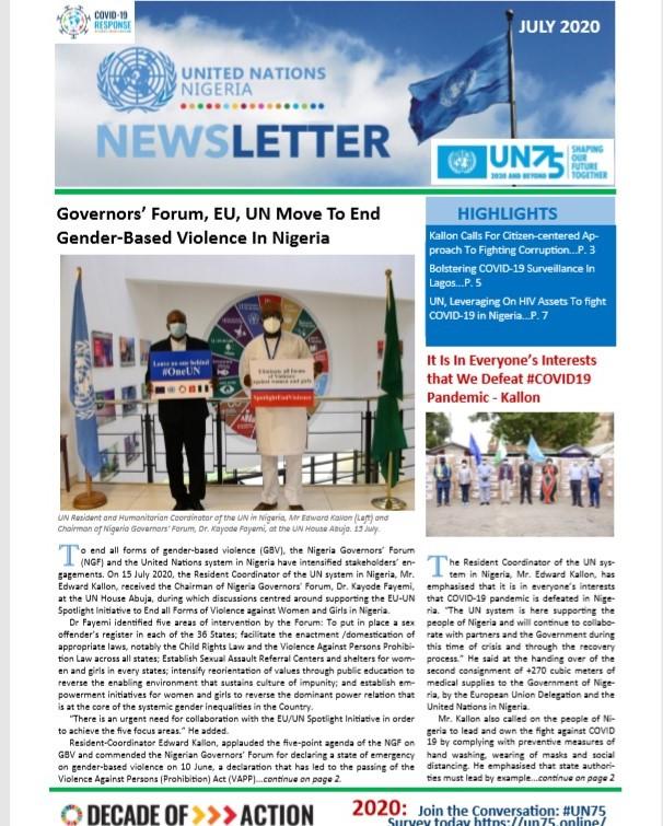 UN Nigeria Newsletter - July 2020