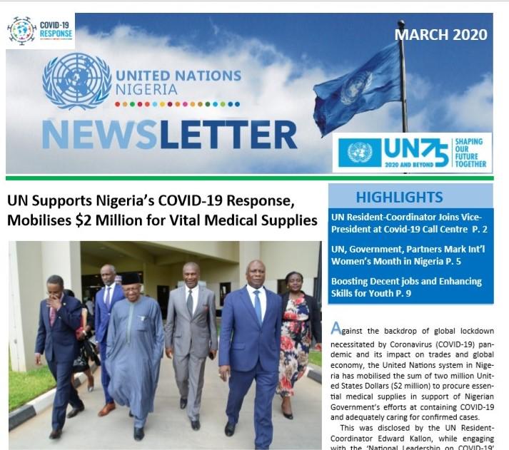 UN Nigeria Newsletter - March 2020