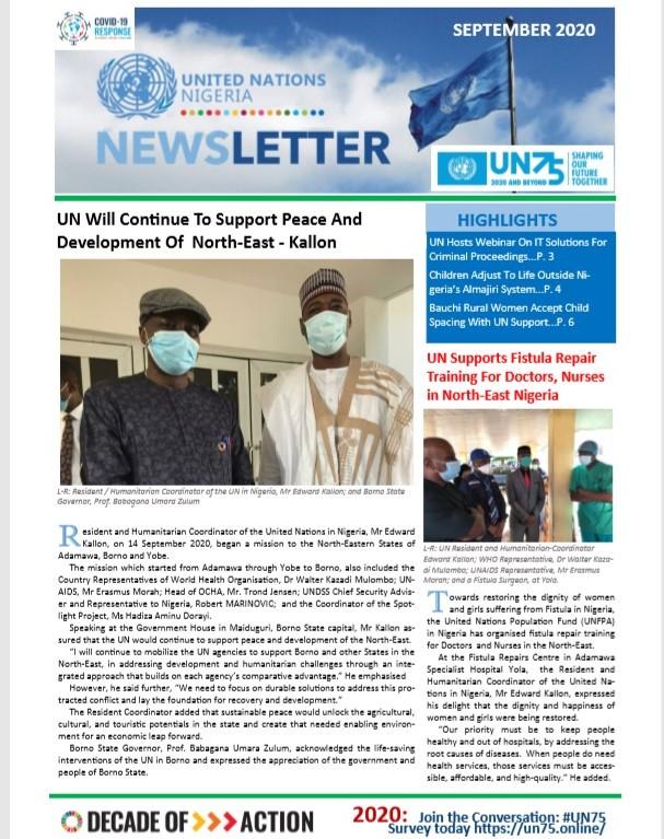 UN Nigeria Newsletter - September 2020