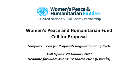 Women's Peace and Humanitarian Fund  Call for Proposal
