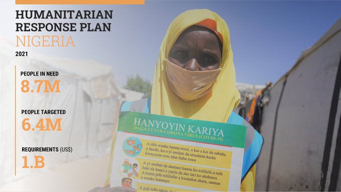 North-East Nigeria: US$1 billion needed to address the humanitarian needs of 6.4 million people in 2021