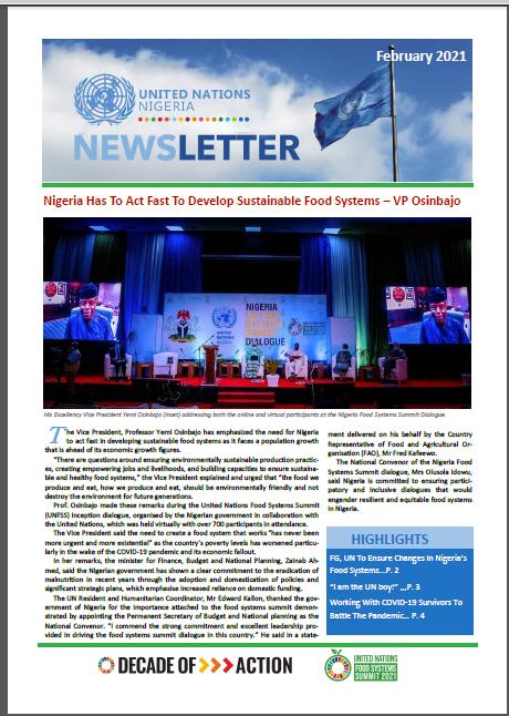 UN Nigeria Newsletter - February 2021
