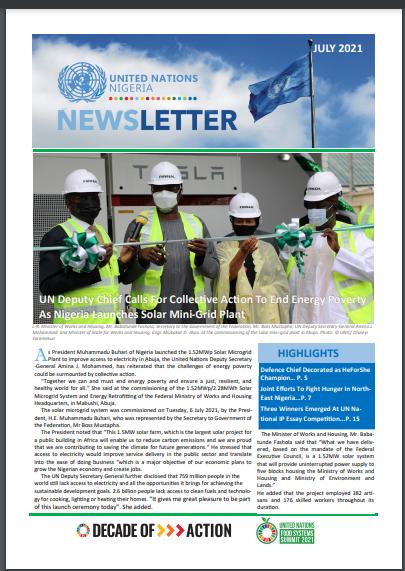 UN Nigeria Newsletter - July 2021