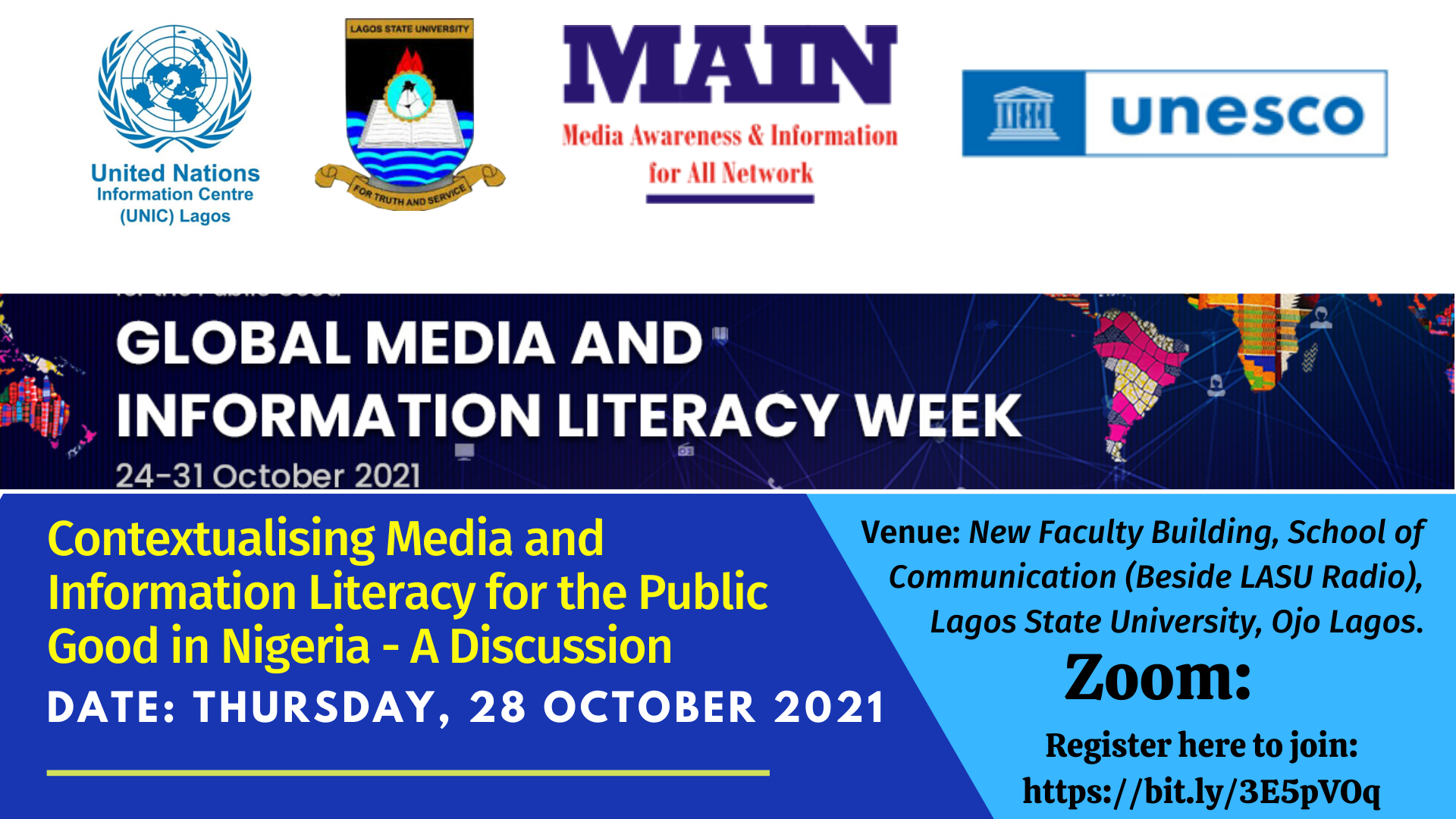 Register to join Media and Information Literacy Week event